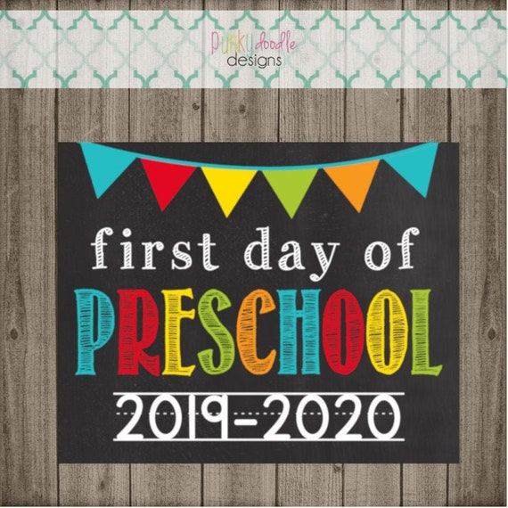 photograph regarding Last Day of Preschool Sign Printable titled Initially Working day of Preschool Indicator - Closing Working day of Preschool Indicator - Printable 8x10 Picture Prop - Prompt Down load