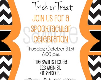 Halloween Invite - Halloween Invitation - Halloween Party Invitation - Costume Party Invitaion