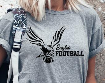 Eagle Eagles Football SVG Grunge Mascot Mom Shirt School Teacher Friday Night Lights cut file cricut htv  silhouette tshirt vinyl clipart
