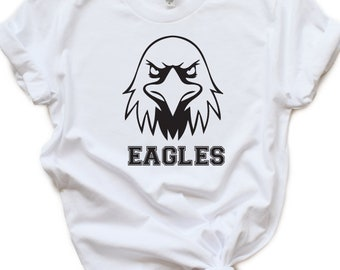 c06e21b3 Eagles SVG Football Soccer SVG Eagle T-Shirt Design Mascot Tailgate Grunge  Mom Shirt Friday Night Lights Cricut Cut Files Silhouette School