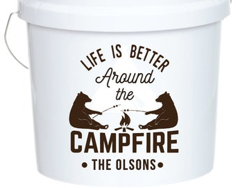 CampFire, campfire SVG Camping Pail Bucket Outdoor Adventure tent, camper, summer vacation, Clip Art, Camping Iron On, Camp Pail,  PNG