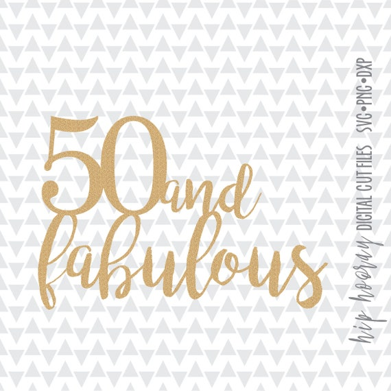 Silhouette Fifty Fab Woman: Fifty And Fabulous Fiftieth 50th Foil Birthday Cake Topper