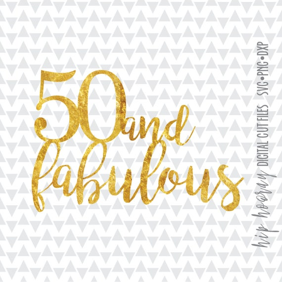Fab 50 People: Fifty And Fabulous Fiftieth 50th Foil Birthday Cake Topper