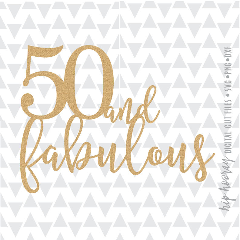 Fifty and Fabulous Fiftieth 50th Birthday Cake topper   Etsy