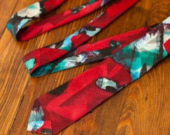 Vintage 80s 90s Men's Necktie Tie - CITY STREETS