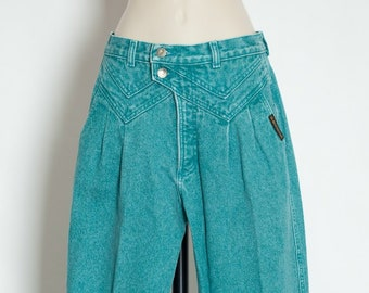 07e5495b8 Vintage 80s 90s Womens Torquoise Colored Jeans - ROCKY MOUNTAIN CLOTHING