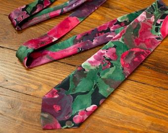 80s 90s Colorful Floral Men's Necktie - Regal