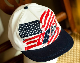 9cfe16fb7f5 Vintage 80s 90s US SHOOTING TEAM Trucker Hat Flatbill Cap
