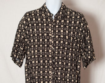 febd98fbc532 Vintage 80s 90s Short Sleeve Mens Button Shirt - CAMPIA MODA