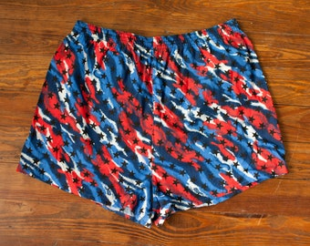 8f17e88b4e223 Vintage 80s 90s red white blue and Stars American USA Shorts - BASIC  EDITIONS