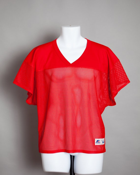 80s 90s Red Football Jersey