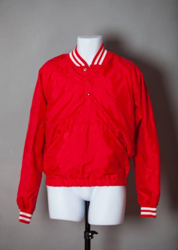 Vintage des années 80 90 s veste pull sport rouge vif