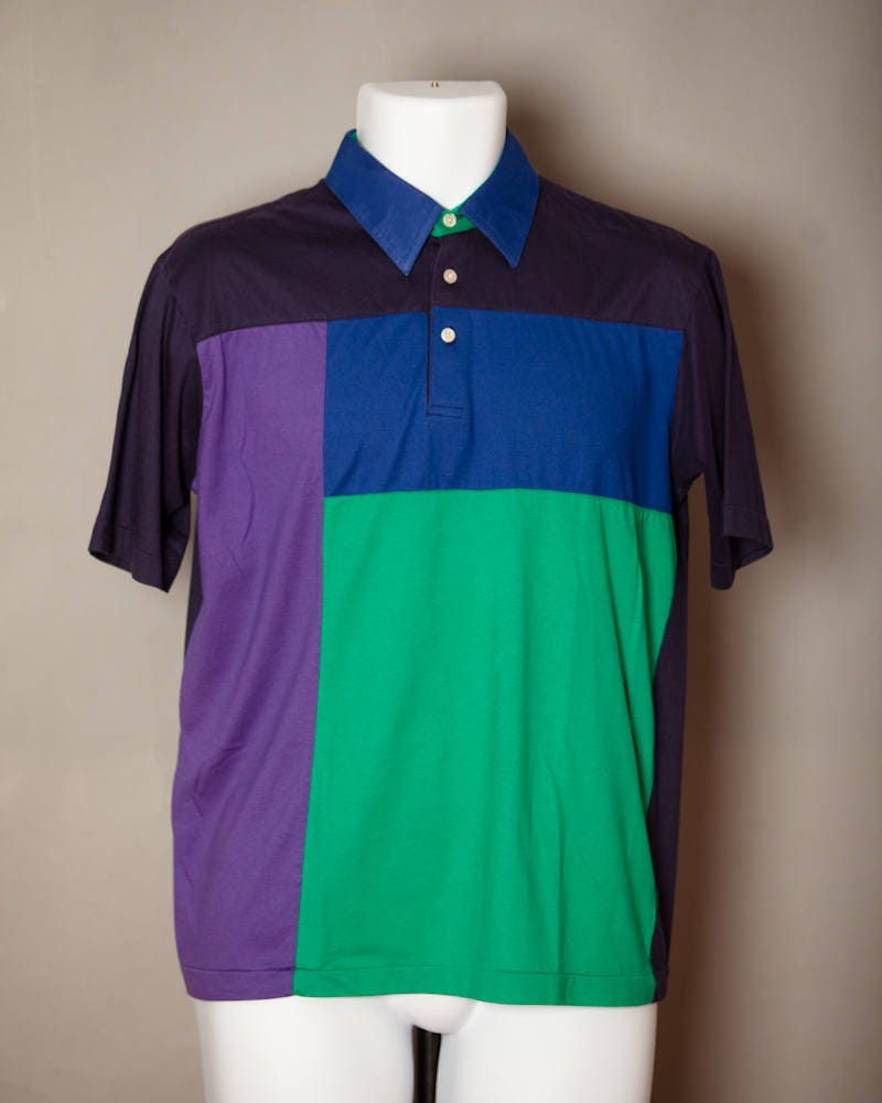Vintage 80s 90 Mens Polo Shirt Tournament By Arrow M Etsy