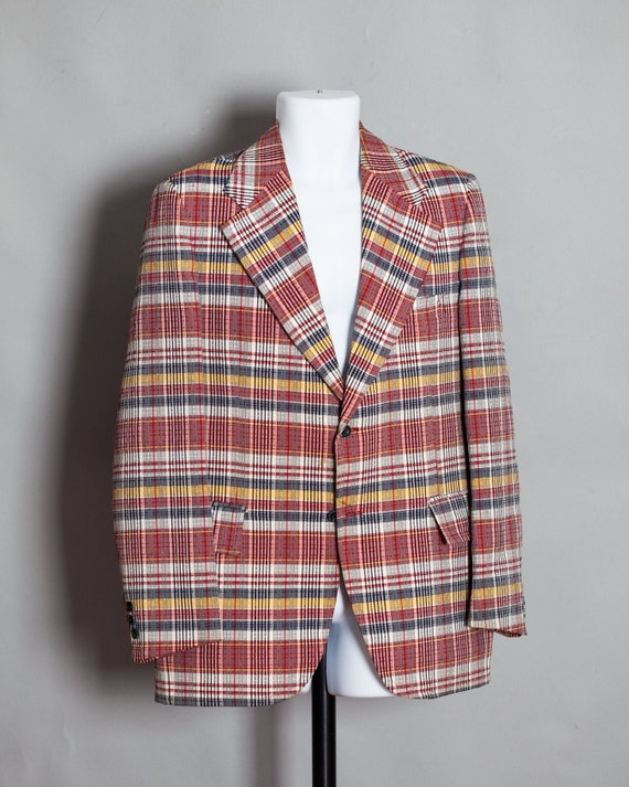 70s 80s Men's Sport Coat Suit Jacket