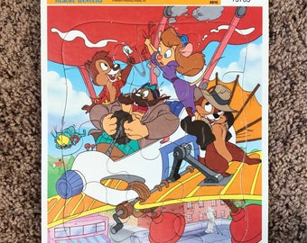Vintage 90s CHIP 'n DALE Rescue Rangers Frame-Tray Puzzle