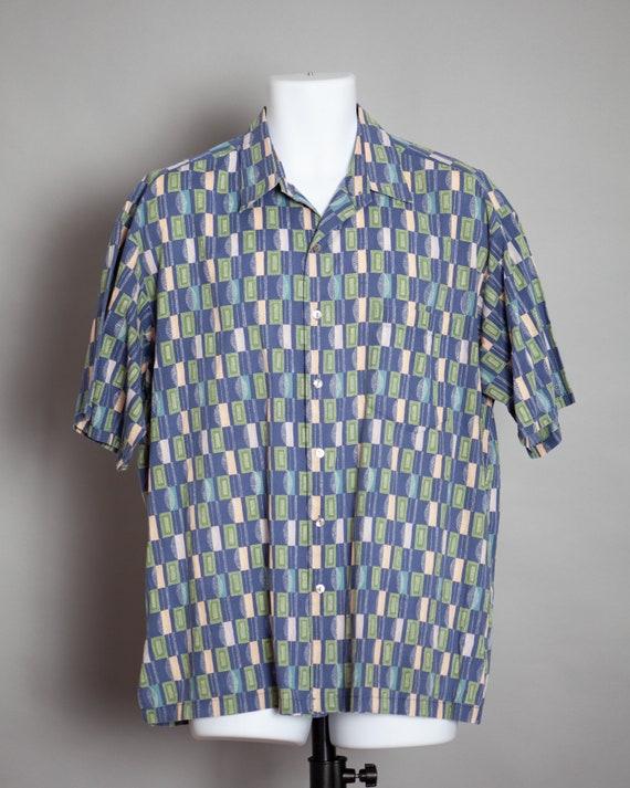 80s 90s Men's Short Sleeve Button Shirt - TORI RIC