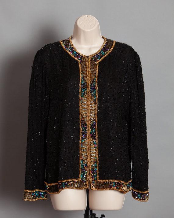 80s 90s Women's beaded and sequins Top