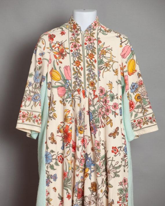 Retro 70s 80s Women's Floral Housecoat Robe - Keyl