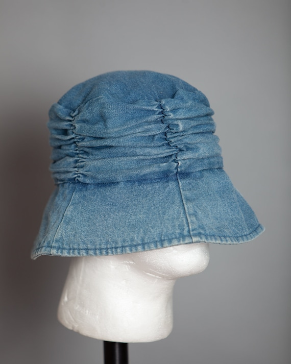 80s 90s Denim Blue Bucket Hat