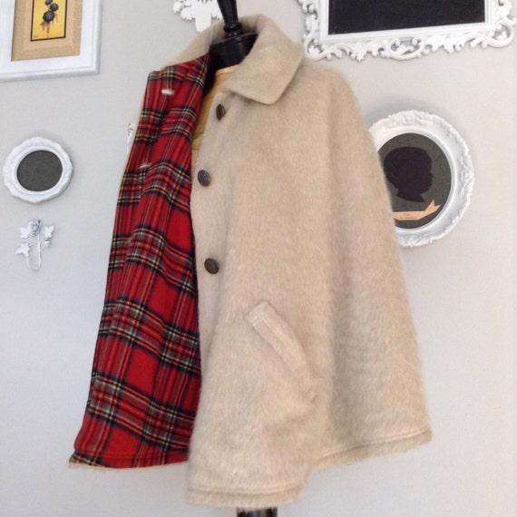 Gorgeous Bavarian Mohair Wool Jacket Shawl Cape