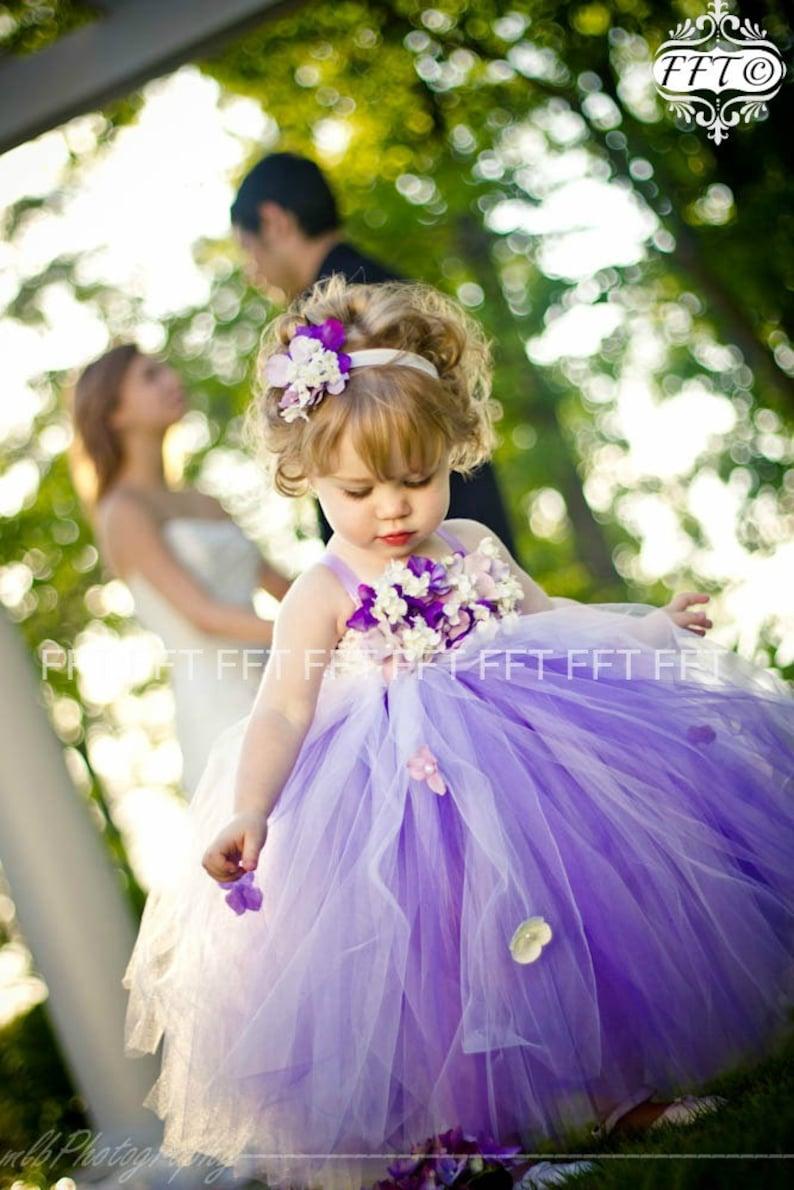 c3c0bd4fef3 Purple Flower Girl Tulle Dress Tutu Dress