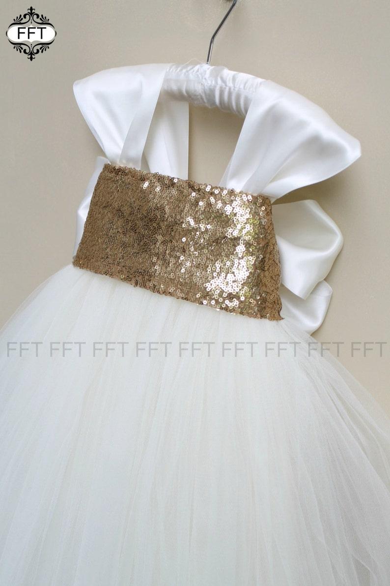 Gold Flower Girl Dress image 0