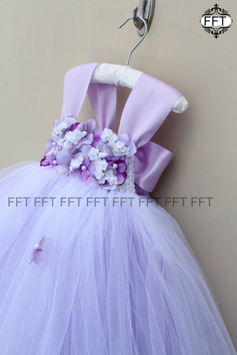 db70c7db517 Lavender Flower Girl Tulle Dress Light Purple Cap Sleeves