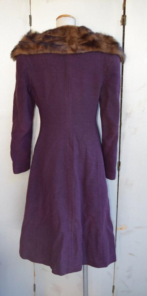 Vintage MED - LG 1930s - 1940s British purple tex… - image 3