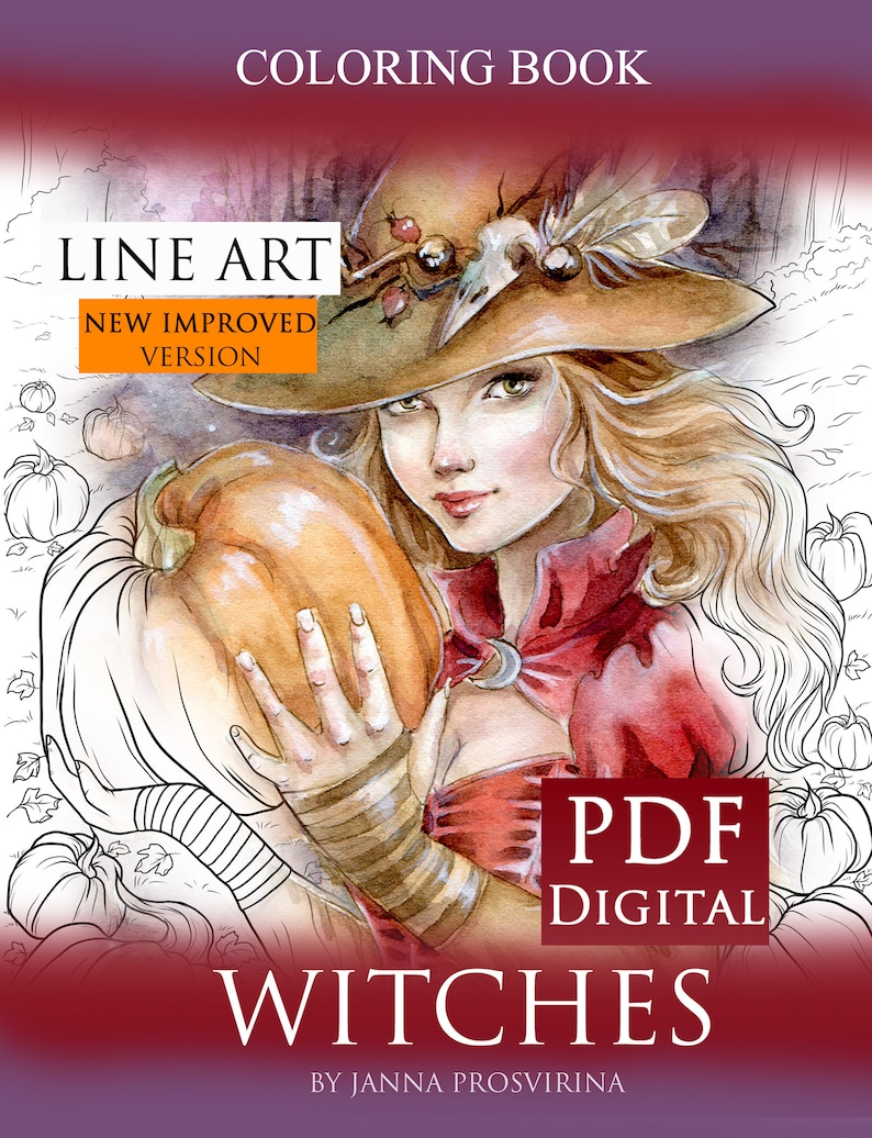 Digital Book Coloring PDFPrintable Instant download Digi image 0