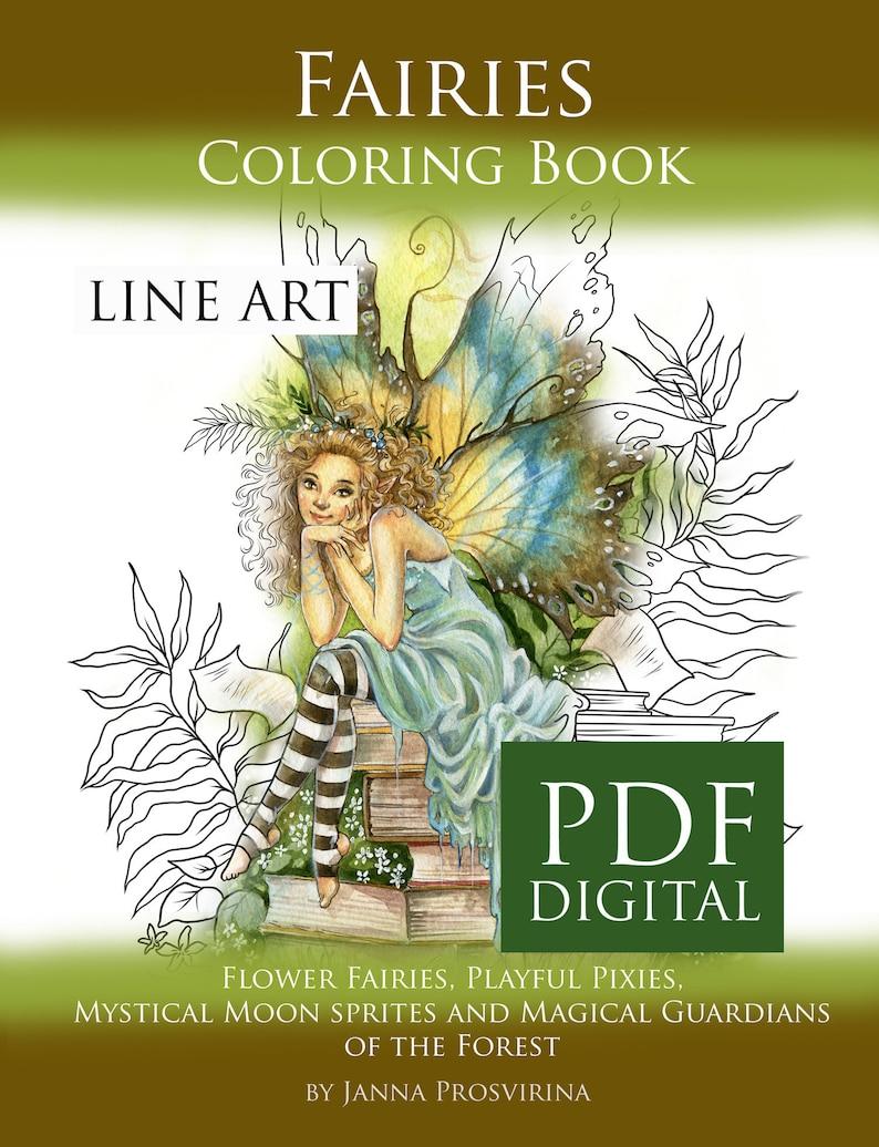 PRINTABLE PDF Coloring book Instant download Line Art image 0
