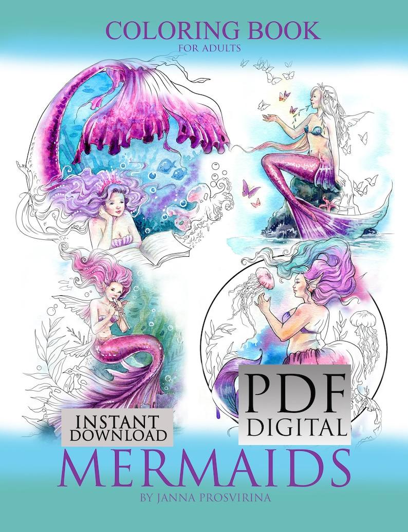 Coloring Book  PDF Printable Instant Download Digi image 0