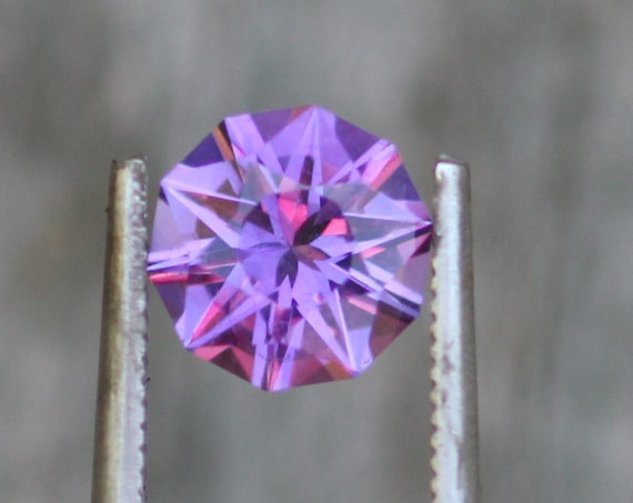 Hand Cut Star Facet Amethyst Round Gemstone - Precision Cut 8mm Amethyst - Brazilian Amethyst - Loose Gemstone - Precision Cut Gemstone