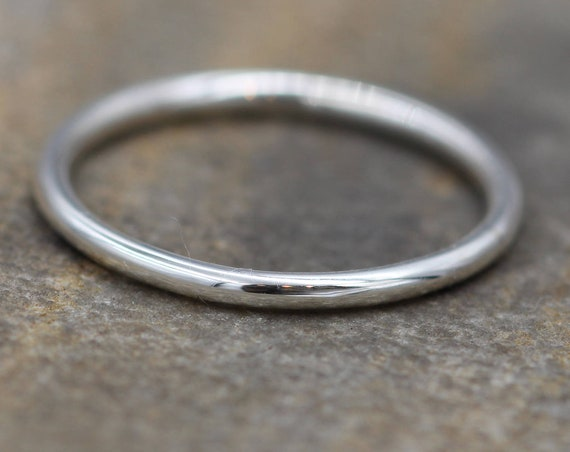 Sterling Silver Round Stacking Ring(s) - Simple 1.5 mm Round Bands - Sterling Stacking Rings - Silver 1.5mm band - Sterling Stacking