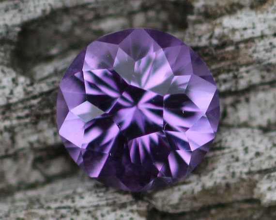 Hand Cut Amethyst Round Gemstone - Precision Cut 7mm Amethyst - Brazilian Amethyst - Loose Gemstone - Precision Cut Gemstone - Designer Gem