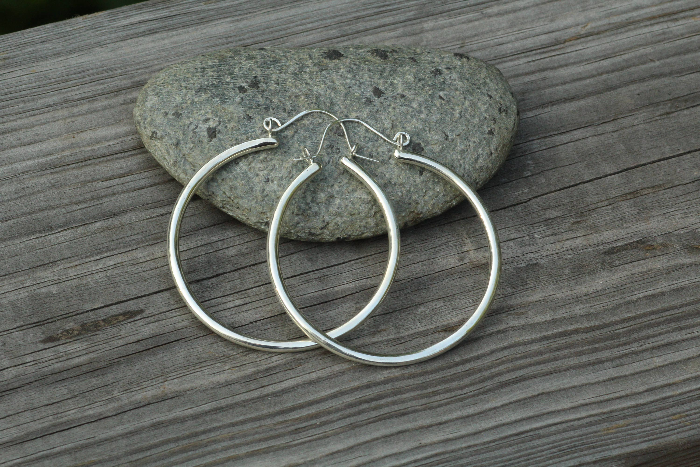 Gold Hoop Earrings Thick Gold Hoop Earrings Hoop