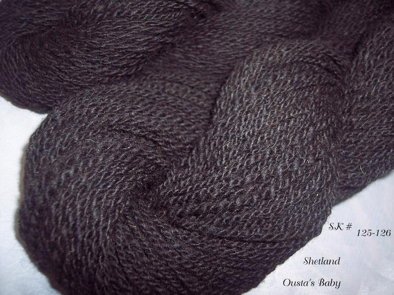 322 yds 5.3 oz SK #125 /& #126 Handspun Yarn Shetland  Wool