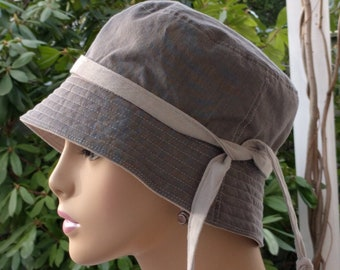 Chemo Hat Organic Cotton Cancer Hat Bucket Hat Made in the USA Medium