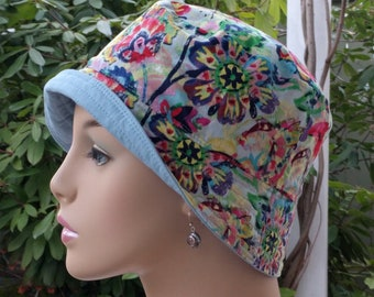 Cancer Hats Bucket Hat Alopecia Hats Reversible. Made in the USA. SMALL-MEDIUM