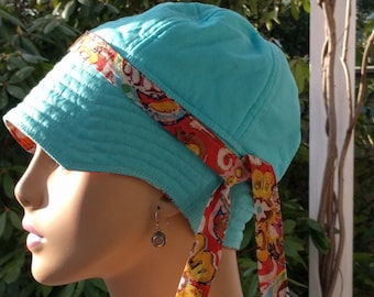 Cancer Hats Chemo Hats Women's Hair Loss Hat Reversible Includes Band XL