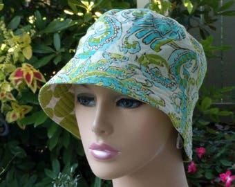 Cancer Hat Chemo Hat Bucket Hat Alopecia Hat Made in the USA. SMALL-MEDIUM