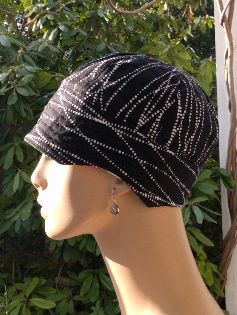 Cancer Caps   Womens Chemo Hat  Sporty Cotton Chemo Cap   MEDIUM
