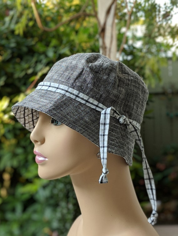 25657bee079 Womens Chemo Hats   Cancer Caps   Reversible Bucket Hat for