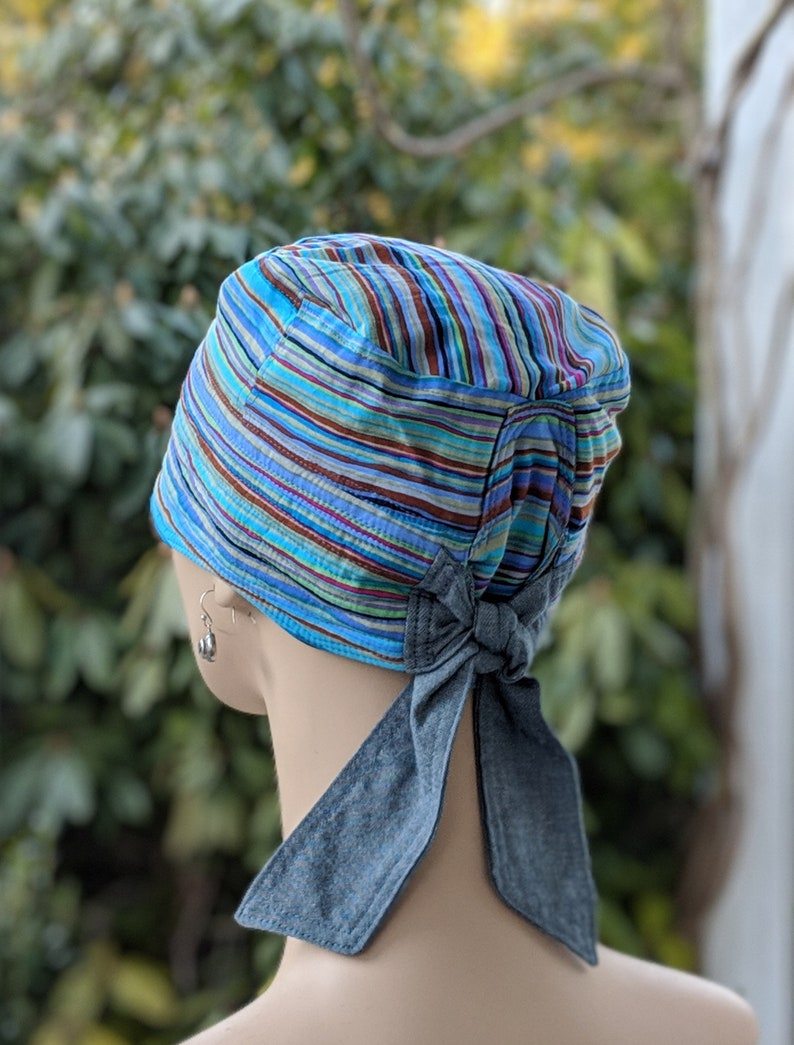 Available in Small, Medium and Large, Just Ask! Soft Chemo Headwear Made in the USA.MEDIUM Chemo Hat Reversible /& Adjustable