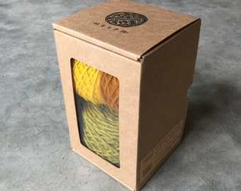 Make your own hat from plant dyed Icelandic wool