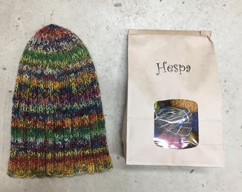 Make your own Mistery  hat from plant dyed Icelandic wool