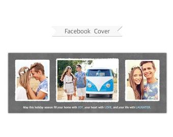 Facebook Timeline Cover, Photoshop Template - FT214 - INSTANT DOWNLOAD