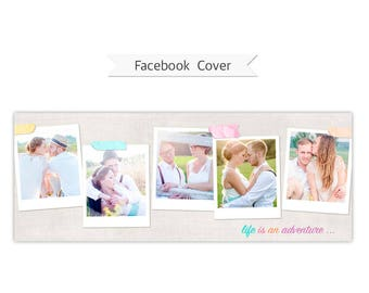 Facebook Timeline Cover, Photoshop Template - FT206 - INSTANT DOWNLOAD