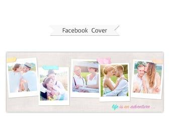 Facebook Timeline Cover, Photoshop Template - FT206 - INSTANT DOWNLOAD