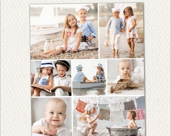 11x14 Gallery Wrap Canvas Template for WHCC, Collage Template, Storyboard Template, psd Photoshop, INSTANT DOWNLOAD (C206)