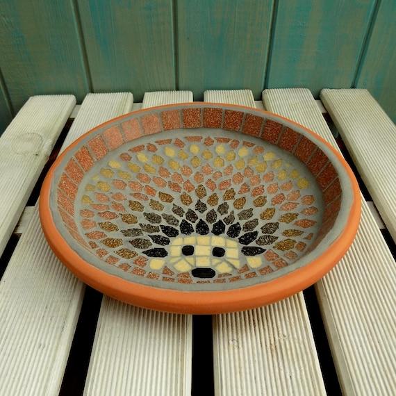 Harvest Hedgehog Mosaic Garden Yard Bird Water Bath Ornament | Etsy